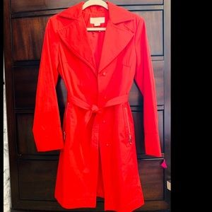 Michael Kors red trench coat 🧥